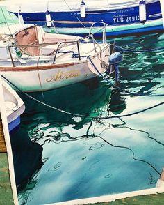 Watercolorist: @juliabarminova  #waterblog #акварель #aquarelle #painting…