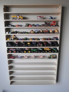 Ideas boys monster truck bedroom matchbox cars for 2019 Wall Racks, Wall Storage, Toy Storage, Hot Wheels Storage, Hot Wheels Display, Matchbox Car Storage, Matchbox Cars, Monster Truck Bedroom, Support Mural