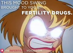 The joys of fertility drugs (told by Keiko Kaboom - The Infertility Voice)