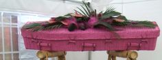 We can spray our coffins any colour you like with environmentally friendly paints, even bright pink!