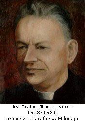 Père Teodor Korcz, polonais (1903-1981), chef du bloc 28 à Dachau.