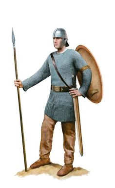 Roman cavalryman, Roman army in Britain, circa 400 AD. Artwork by Tom Croft.