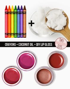 Tired of your lipgloss colors? Make your own, using crayons! #beauty_diy