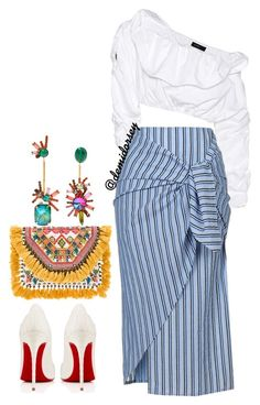 """""""Untitled #102"""" by thedemidorsey ❤ liked on Polyvore featuring E L L E R Y, Gypsy05, Christian Louboutin and Elizabeth Cole"""
