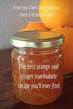 Tried and tested the best orange and ginger marmalade recipe you'll ever find - Amazing Foods Menu Recipes Orange Ginger Marmalade Recipe, Ginger Jam, Ginger Jelly Recipe, Homemade Marmalade Recipes, Jelly Recipes, Dessert Recipes, Desserts, Hp Sauce, Kitchen