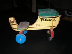Vintage Playskool Airplane Riding Toy