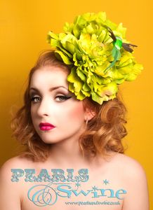 """Image of """"Gloriah"""" in Lime Green Giant Peony Flower Fascinator Titfer Millinery Hat Royal Ascot Races UK Bee Hat, Royal Ascot Races, Peony Flower, Flowers, Flower Headdress, Hair Brooch, Millinery Hats, Rockabilly Fashion, Feathered Hairstyles"""