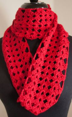 Red Infinity Scarf $25.00