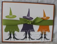 Stamp & Scrap with Frenchie: Witches Dress Punch Art video