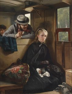 The Irritating Gentleman (1874); by German painter Berthold Woltze | Reminds me of photographer Ruth Orkin's series about a young American traveling in Italy. Or the lecher who eyed my niece a couple of days back.
