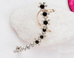 Punk Earrings, Rhinestone Earrings, Crystal Earrings, Fashion Earrings, Clip On Earrings, Gold Earrings, Drop Earrings, Ear Jacket, Aliexpress