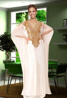 New Beautiful Ladies Dubai Kaftan Farasha Jalabiya Embroidery Abaya. Material: Pure Polyester Georgette for Main caftan. Dubai Fashion, Abaya Fashion, Modest Fashion, Luxury Fashion, Abaya Style, Abaya Mode, Hijab Stile, Maxi Dress Wedding, Wedding Hijab