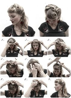 How To Hair - DIY Hair Resource From How To Hair Girl | DIY Hair Friday. 4 Holiday ready 1940's inspired hairstyles.