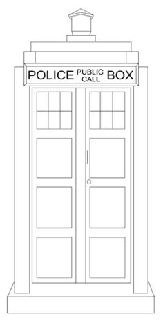 1000 images about color pages templates on pinterest for Tardis template for cake