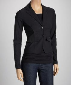 Look at this #zulilyfind! Black Bengaline Blazer #zulilyfinds