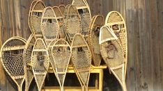 Collection of Native American Indian Snowshoes