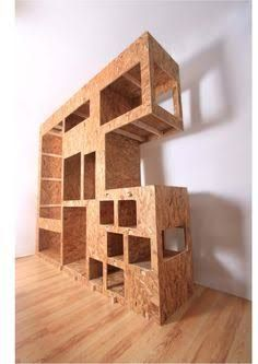 Modular osb bookcase cubbies mix and match | Plywood, Shelves and ...