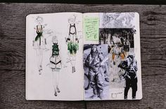 Connie Lim fashion sketch book - design development