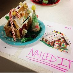 This person took home the #pinterestfail award at this gingerbead house contest.