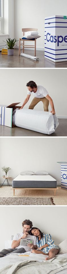 """The outrageously comfortable Casper mattress combines premium memory and latex foam to create one perfect sleep surface. The best part is, it's delivered straight to your door in a small """"how did they do that?"""" sized box. Try sleeping on a Casper for 100 nights, risk-free."""