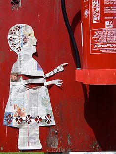 street art paper cut outs by Lulu Allison