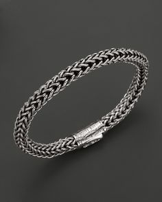 Scott Kay Men's Sterling Silver Round Doberman Bracelet with 18K Y