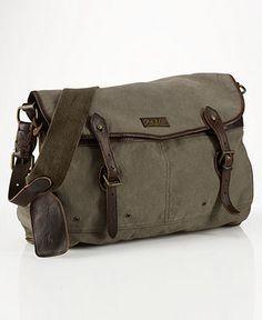 Polo Ralph Lauren Bag, Canvas New Messenger Bag - Mens Belts, Wallets & Accessories - Macy's