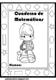 portadas para cuadernos infantiles Precious Moments, Spanish Immersion, Folder Organization, Spanish Classroom, Lettering, Education, Comics, Math, Wallpaper