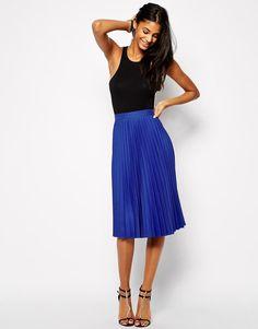 True Decadence | True Decadence Pleated Midi Skirt at ASOS
