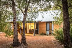 Secluded rammed earth cottages surrounded by peppermint tree forest Photo: Quentin Chester Peppermint Tree, Rammed Earth, Tree Forest, Rustic Charm, Western Australia, Chester, Cottages, River, Plants