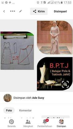 Dress Sewing Patterns, Sewing Patterns Free, Clothing Patterns, Abaya Pattern, Jacket Pattern, Brokat, Pattern Drafting, Love Sewing, Kebaya