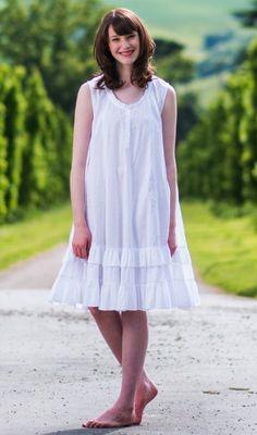 adeaceeb36 Amazon.com  The 1 for U Sleeveless 100% Cotton Nightgown - Layla -