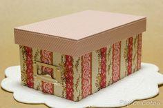 品名差し付きのかぶせ蓋の箱 #cartonnage