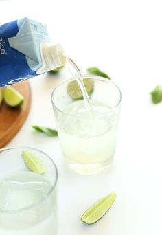 Coconut Gin and Tonic! 4 ingredients, no shaking required, and perfectly sweet and tart. #CrackOpenLife