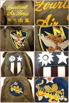 """【楽天市場】BUZZ RICKSON'S バズリクソンズ B-10 """"ROUGH WEAR CLOTHING CO."""" 1943 MODEL 23rd Fighter Group 14th Air Force 『如虎添翼』 BR10803:ヒノヤ"""
