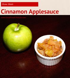 Home Made Cinnamon Applesauce from Great Food and Lifestyle.  I lost 8 sizes and reversed Type 2 Diabetes through diet and lifestyle. For more healthy, tasty recipes follow me on Pinterest and subscribe to my blog at this link.