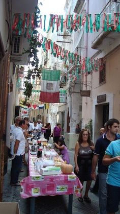"Fall festival in Gaeta Italy--look for cheap material to make ""pennants"""