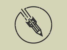 Atomic Sketch mark designed by Katy Garrison. Typography Logo, Logo Branding, Branding Design, Brand Identity, Logo Design Inspiration, Icon Design, Logo Samples, Education Logo, School Logo