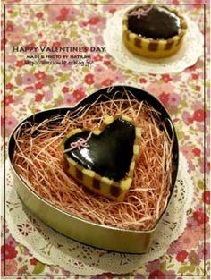 「【バレンタイン】しましまチョコタルト」はつみ | お菓子・パンのレシピや作り方【corecle*コレクル】