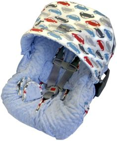 $99.99-$99.99 Baby Car Seat Covers.  No one wants a boring car seat! Give your baby some celebrity treatment with the Baby Ritzy Rider in a notice-me print!  100% reversible to Minky Dot creating 4 distinct looks, pacifier pockets, canopy hood & 2 neck strapes.  Easy on & easy off without removing any straps for quick clean up - machine washable.   Designed to fit most Infant Carrier Car Seats,  ...