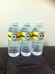 Minion Water Bottle Label Printable by GracefulCreationsPC