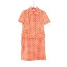 Edles Kostüm von Elegance Paris in Orange Gr. L - Top Zustand!