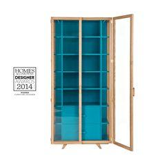 case furniture vitrina tall cabinet blue hierve 002