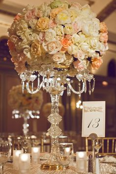 Fancy That! Events, Candleabra, Centerpiece, Table Number, Wedding, Langham Pasadena