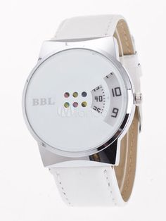 32f439ebf53 Leather Casual Watch Women s Turnplate Dial Round Dial Quartz Wrist Watch