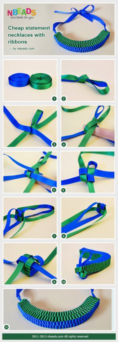 cheap statement necklaces with ribbons