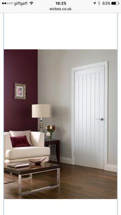 Upstairs doors & Cottage Moulded Primed Woodgrain Internal Door - 762mm Wide ...