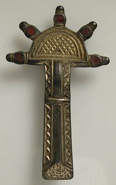 mid-6th century Culture: Frankish Medium: Silver-gilt, niello, garnet, iron pin