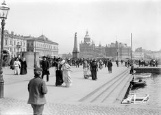 30 Fascinating Vintage Photos Capture Street Scenes of Helsinki, Finland in the ~ vintage everyday Helsinki, History Of Photography, Street Photography, Old Photos, Vintage Photos, History Of Finland, Rare Historical Photos, Map Pictures, Old Paris