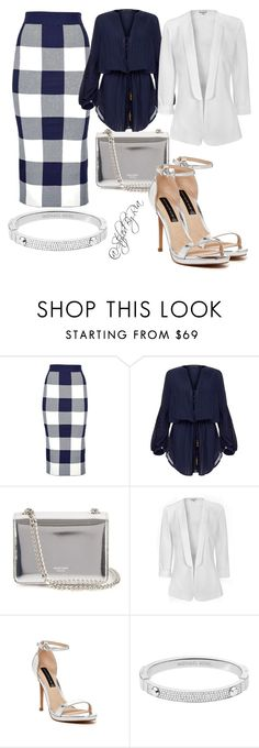 """""""perfect combination"""" by stylebyria ❤ liked on Polyvore featuring Whistles, ViX, Rochas, Glamorous, Steven by Steve Madden, Michael Kors, women's clothing, women, female and woman"""
